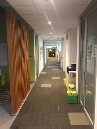 Koridoren i University of Melbourne (jobbet)