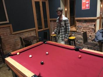 Samma pub hade också pool