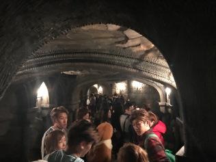 Ca 60 minuter senare kom vi in i slottet. För denna attraktion så kunde man också bara gå igenom köområderna om man ville. Hogwarts slottet var såpas bra inrett att det var många som valde att bara gå igenom den o.