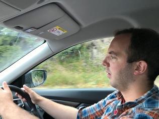 """Synd ba att jag inte såg så mycket av den i.o,m. mängden koncentration som krävs för att köra på """"rätt sida om vägen""""."""