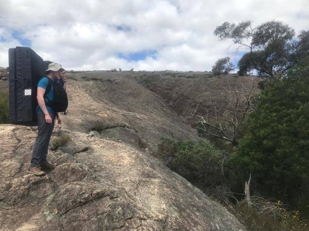 Påväg mot lördagens bouldering