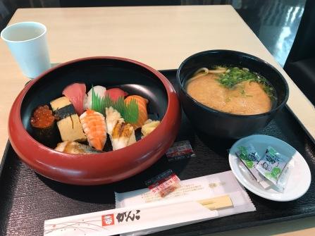 Den enda sushin jag åt på hela resan, på flygfältet på vägen bort. (o)tur nog så kan det också har varit bästa sushin jag någonsin ätit.