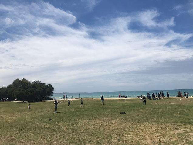 Mycket lång strand