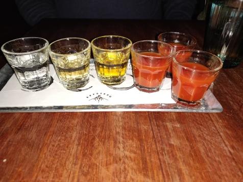tequila och tomatjuice (pallet clenser)