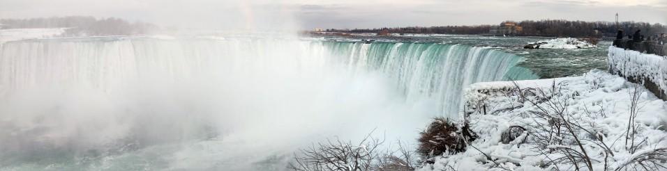 Det här är horse shoe fallsen, dom ser man inte ens egentligen från USA